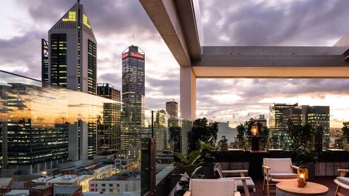 Rooftop Bar at QT in Perth