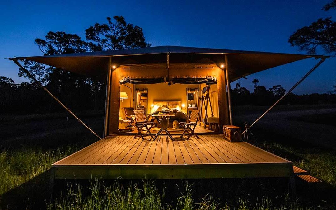 A romantic, eco-friendly glamping getaway in the Australian outback