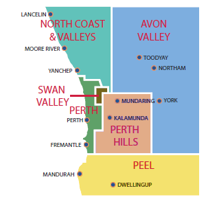 Explore the map of Perth and Surrounds