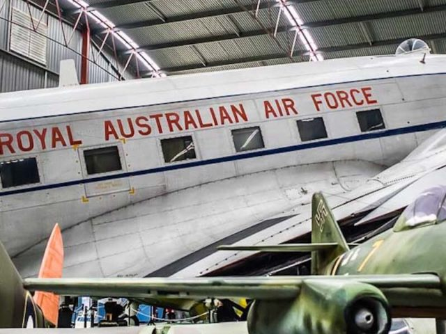 historical royal australian air force plane at aircraft museum