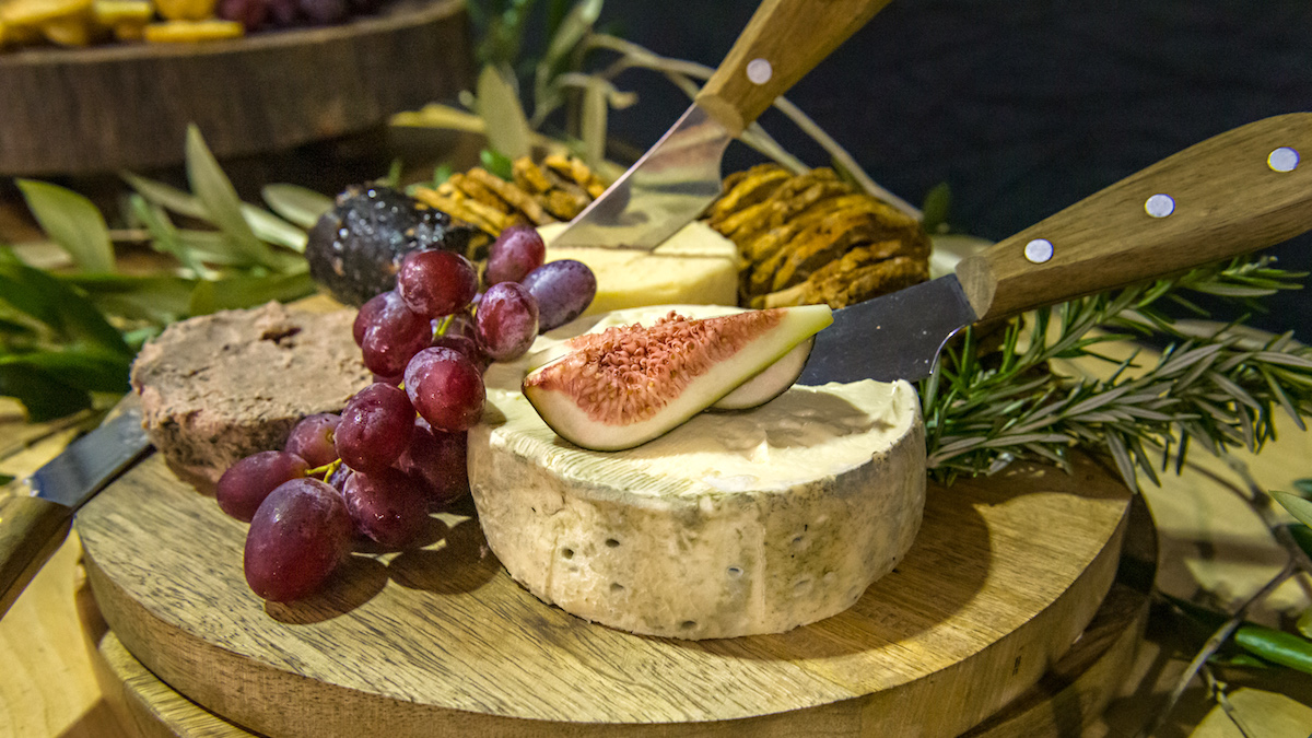 cheese and fruit platter