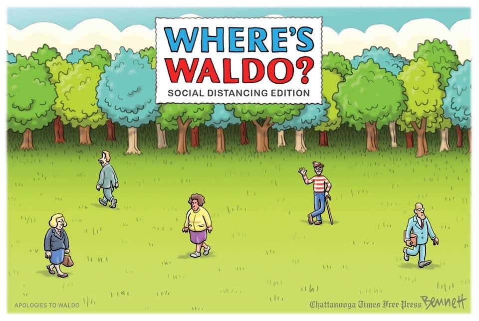 Waldo cartoon covid meme