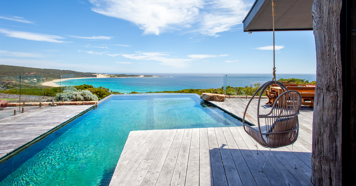 Ocean views at mansion in Yallingup