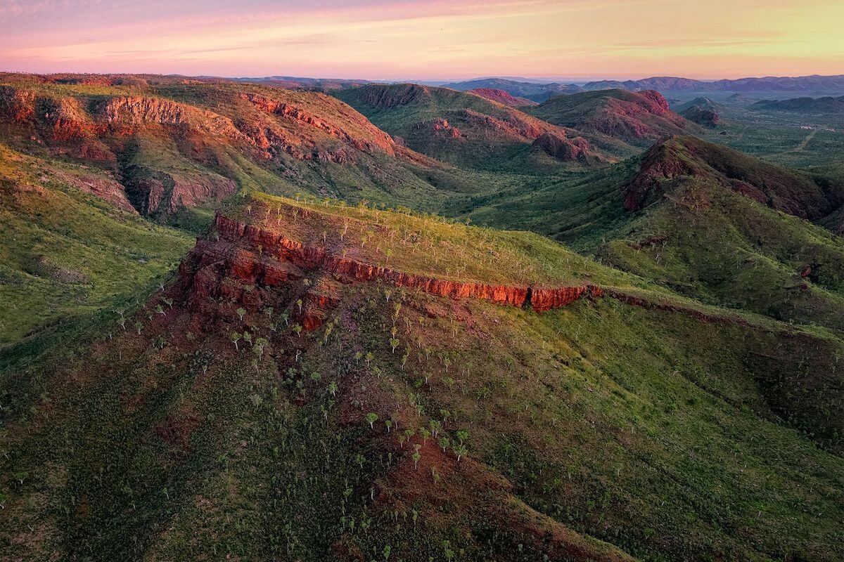 Aerial image over the East Kimberley