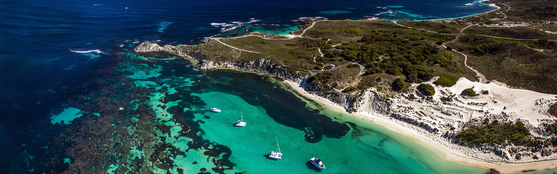 Aerial view over Rottnest Island