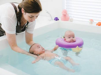 Inside Perth's only baby spa: the ultimate bonding experience for parents and your bub