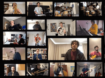 Awesome video of 84 talented WAAPA Jazz Students playing from home – what a life!