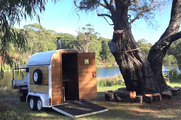 The ultimate in Margaret River luxury: a portable Finnish wood-fired sauna for hire