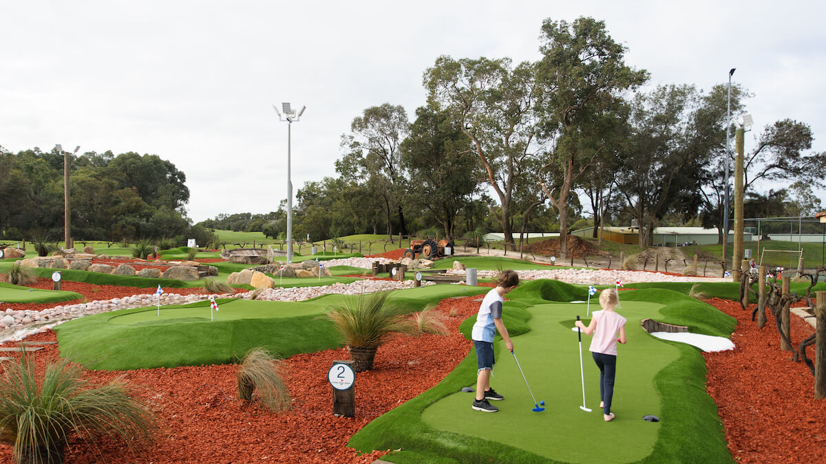 The Vines mini golf course in the Swan Valley