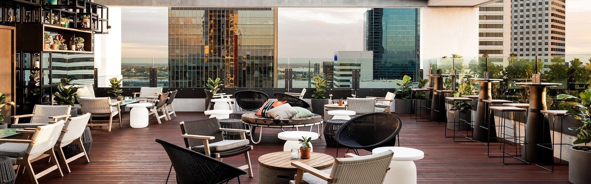 Rooftop bar in Perth
