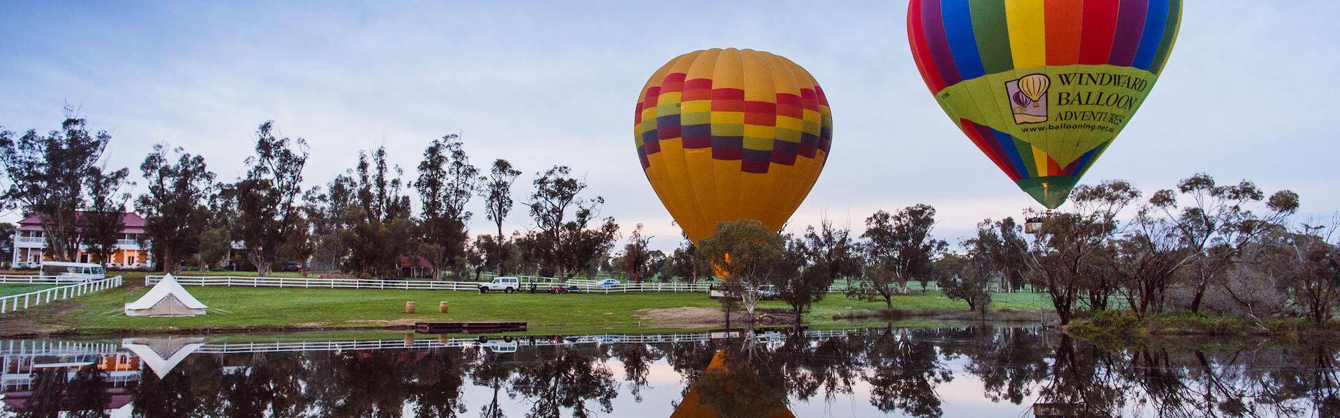 hot air balloon over the avon valley