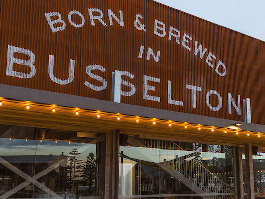 Two-storey Shelter Brewing Co opens beside Busselton Jetty with woodfired pizzas, lounge & playground