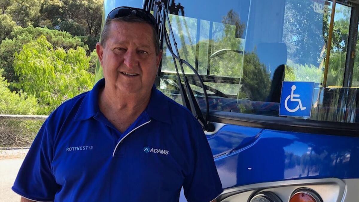 Colin bus driver at Rottnest