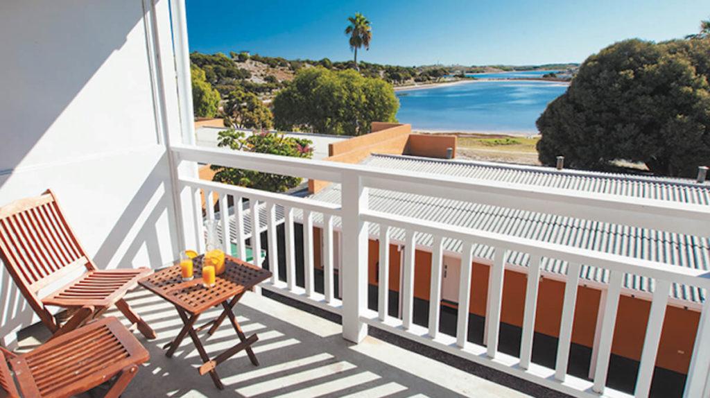 balcony view from Rottnest's Karma Lodge