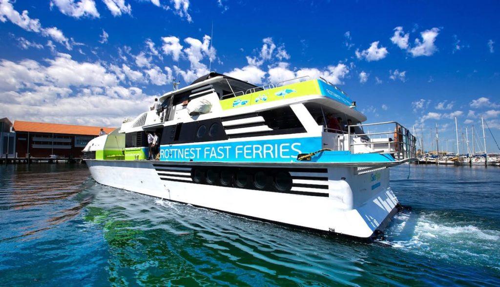 Rottnest fast ferry leaving Hillarys