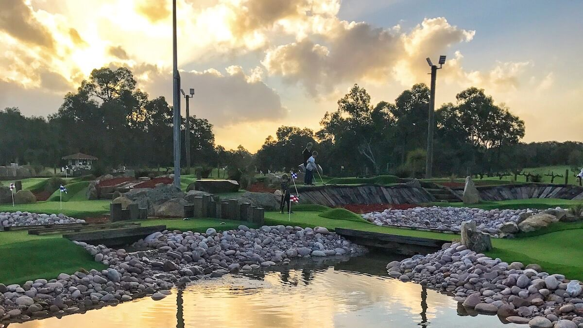 Mini golf at the vines in swan valley
